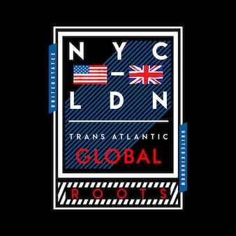 Nycとロンドンの国のデザイン