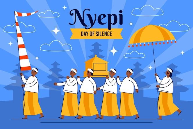 Nyepi celebration illustration