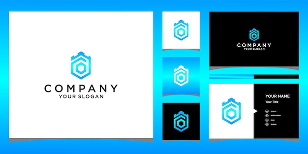 O crown king logo design with bussines card template