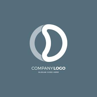 O d letter logo design template
