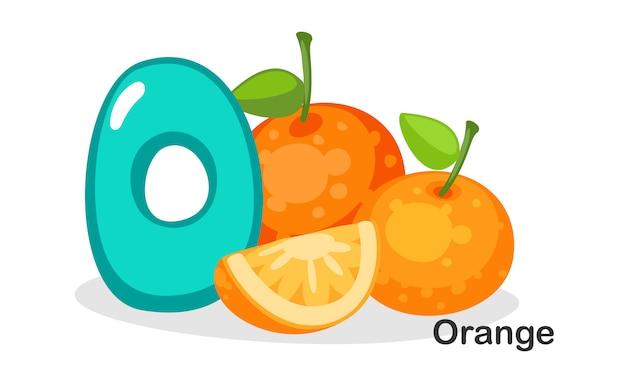 O для апельсина