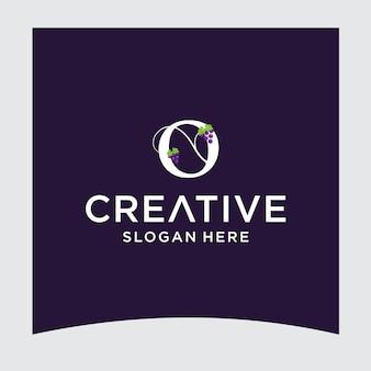O grape logo design