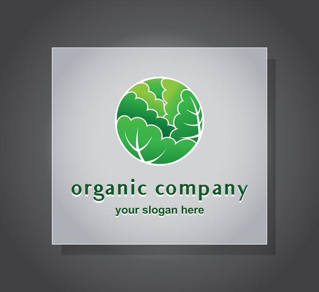 O буква зеленый шаблон логотипа leavs
