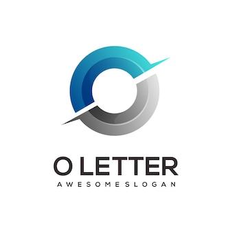 O письмо логотип красочный градиент иллюстрации