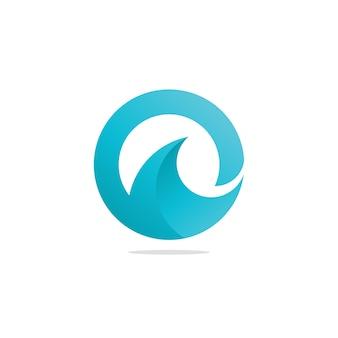 O letter ocean water wave logo