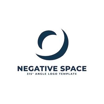 O логотип современные чистые негативное пространство геометрические буквы векторные иллюстрации