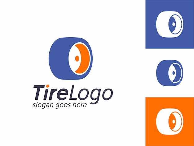 O simple and abstract car tire logos templates