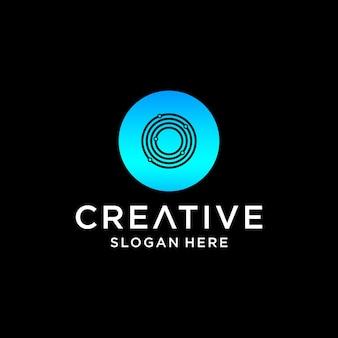 O tech logo design