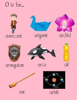 Многие слова начинаются с буквы o
