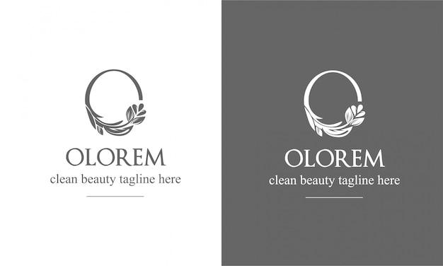 文字oの形で女性的な花の記号。
