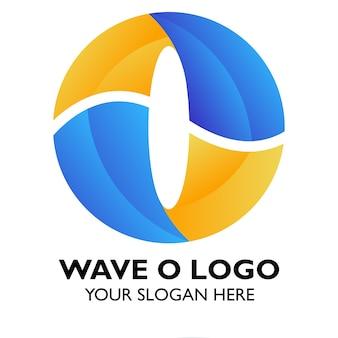 Концепция логотипа o для случайного финансового бизнеса