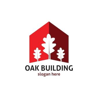 오크 건물 로고 비즈니스 회사 디자인 템플릿 소재 요소 절연