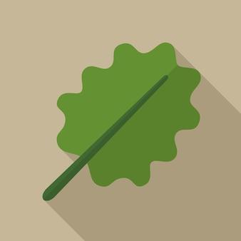Oak leaf flat icon illustration isolated vector sign symbol
