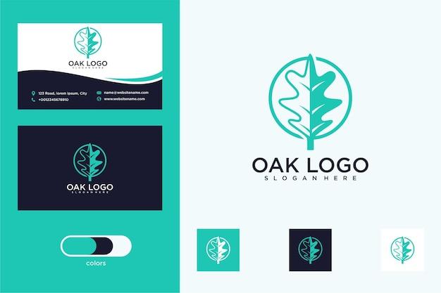 Oak leaf logo design and business card