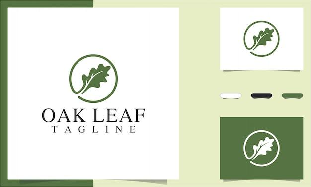 Шаблон логотипа дубового листа