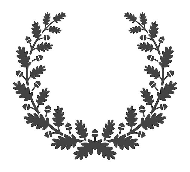 オークリース。月桂樹の枝の成功のシンボルを残します