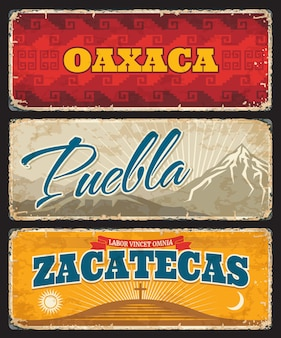 멕시코 오악 사카, 푸에블라, 사 카테 카스 주 주석판