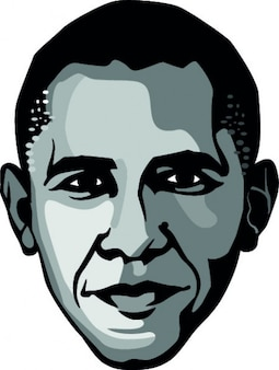 Obama, frontal face