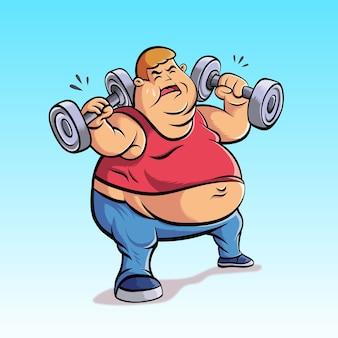 뚱뚱한 사람들은 체중 감량 연습