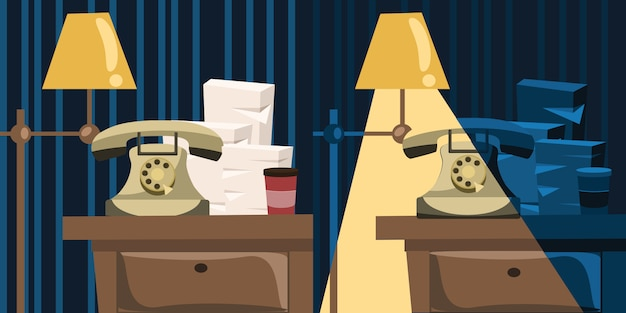Object on a table vector illustration