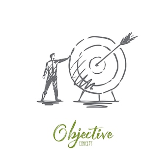 Objective illustration in hand drawn