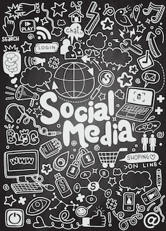 Objects and symbols on the social media element