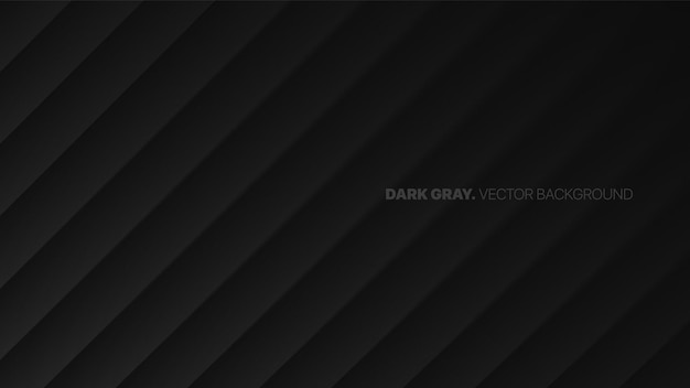 Oblique lines 3d blurred effect dark gray minimalistic abstract background