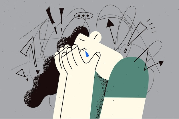 Obsessive compulsive anxiety disorder concept