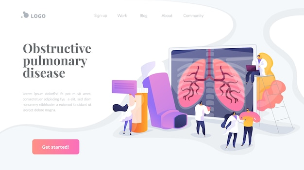 Obstructive pulmonary disease landing page template