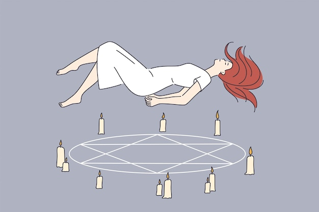 Occult rituals and spirituality concept