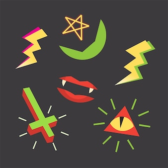 Occult symbols and images for halloween designs