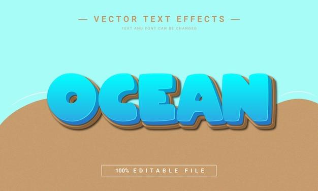 Ocean 3d text effect