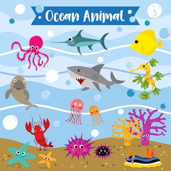 Ocean animal cartoon