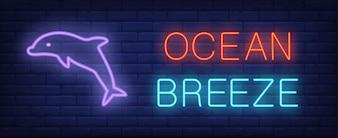 Ocean breeze neon sign