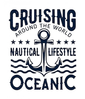 Ocean cruising, nautical lifestyle, ship anchor
