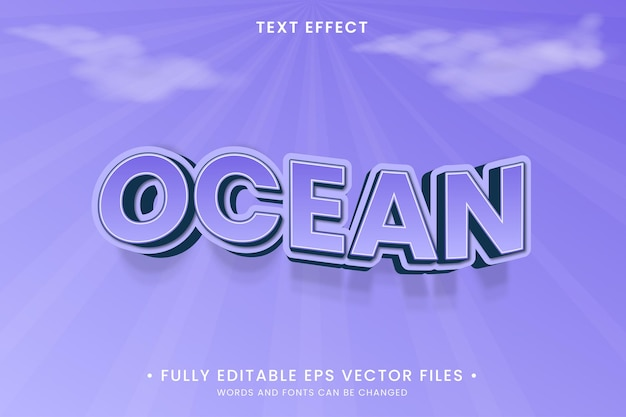 Ocean editable text effect