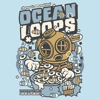 Ocean loops cartoon