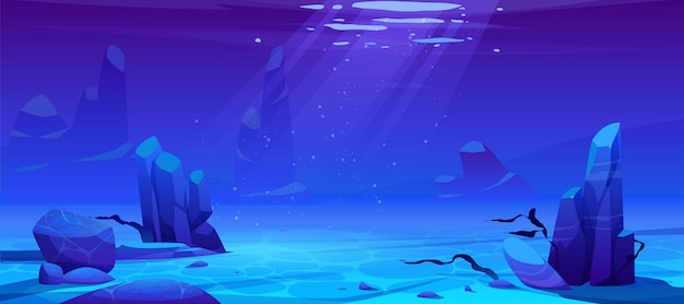 Океан или море подводный фон. пустое дно