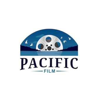 Ocean roll film logo template