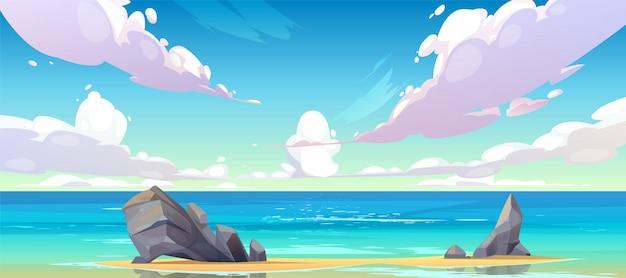 Paesaggio tranquillo della natura della spiaggia del mare o dell'oceano.