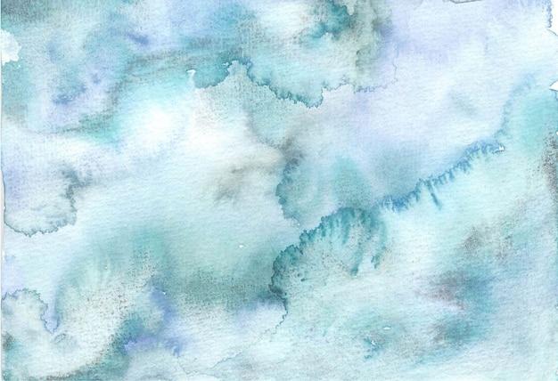 바다 폭풍 소프트 블루 추상 그림 질감 배경 수채화