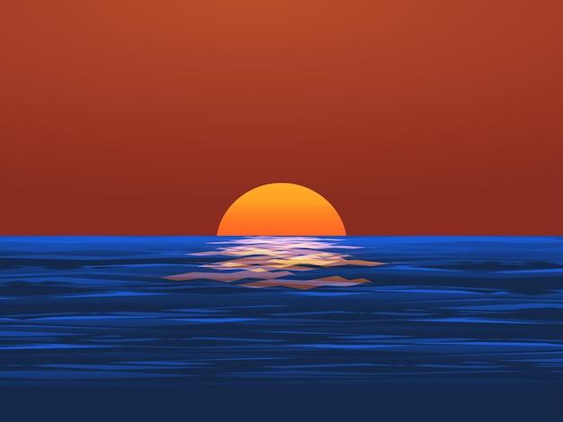 Океан закат пейзаж природа фон