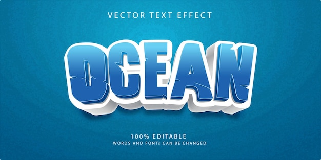 Шаблон стиля текстовых эффектов океана