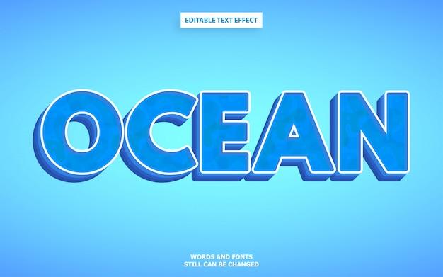 Океанский текстовый стиль