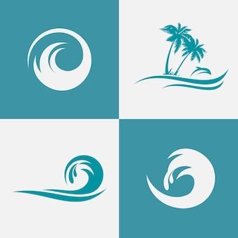 Коллекция логотипов ocean wave, вдохновляющая