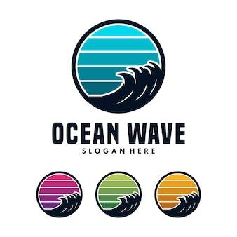 海の波のロゴデザインテンプレート