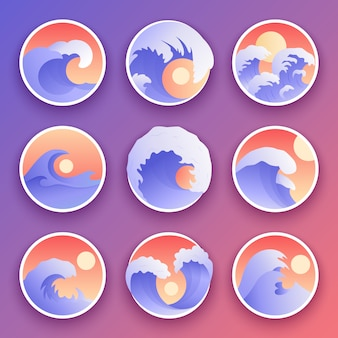 Ocean waves collection