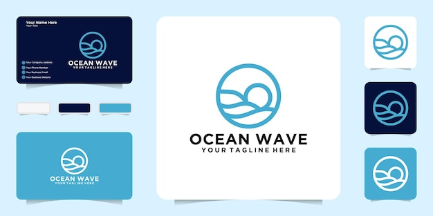 Ocean waves logo design a simple logo that is perfect for the travel industry