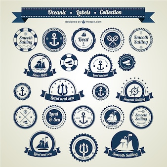 Oceanic labels collection