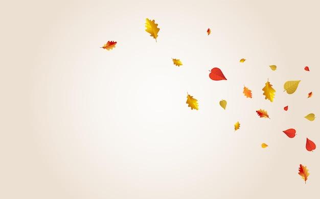 黄土色の花のベクトルの透明な背景。ダウンの葉のイラスト。ゴールデンブライトフォリッジカード。紙の質感。